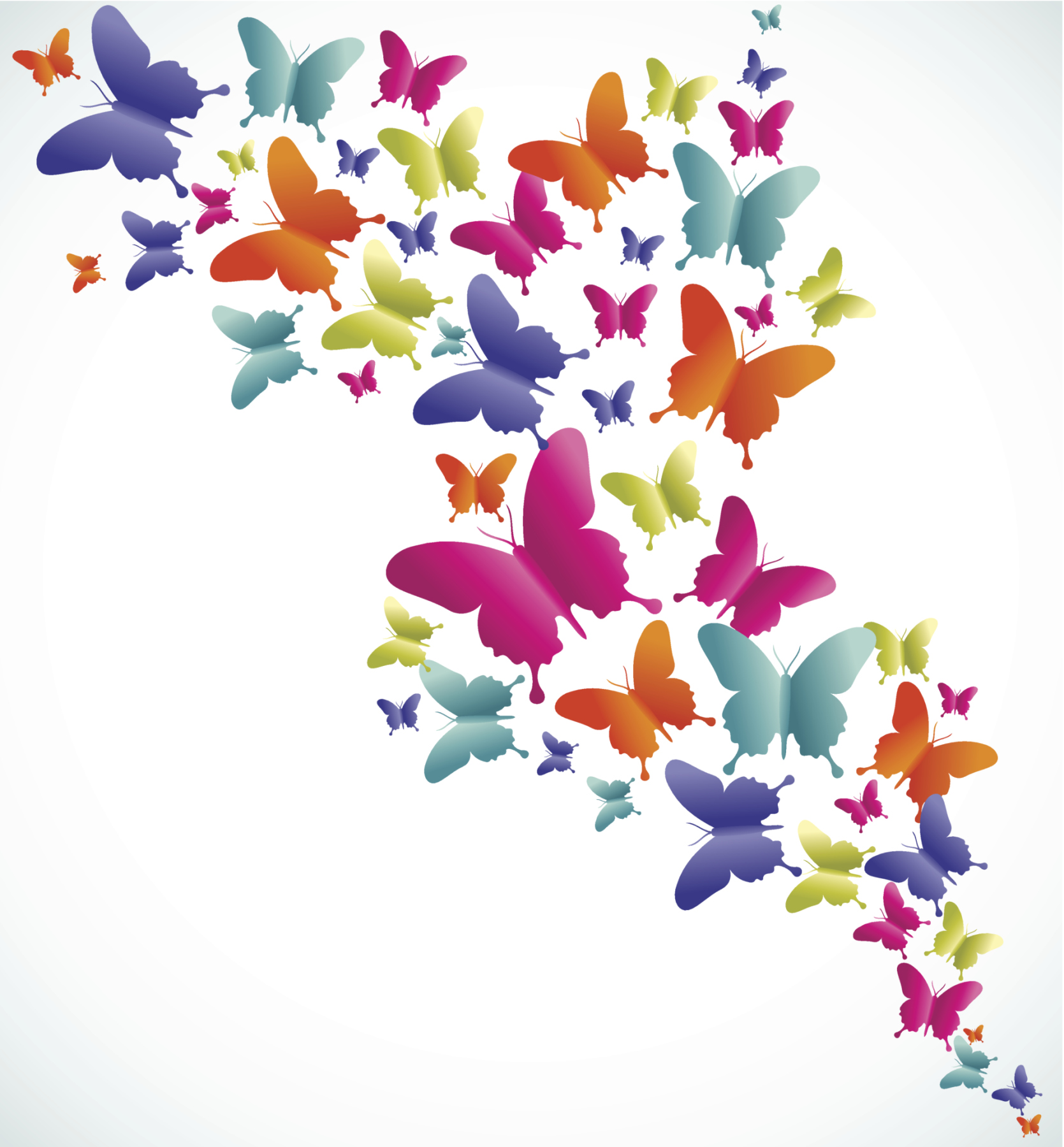 Farfalle colorate download tattoo pictures to pin on pinterest for Foto farfalle colorate